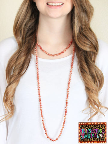"60"" Fire Bead Necklace"