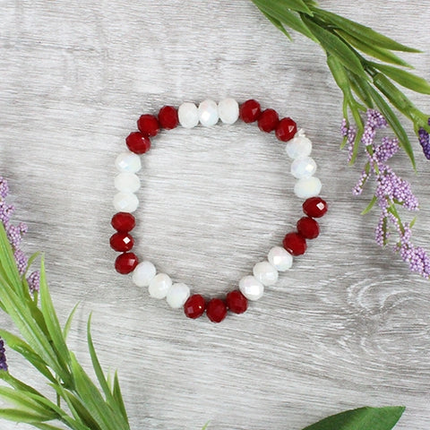Red/White Bead Bracelet
