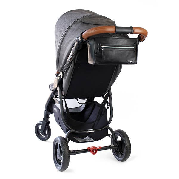 PREORDER Itzy Ritzy Black & Silver Travel Stroller Caddy