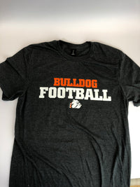Dk Grey Bulldog Football Cotton Tee