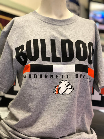 Bulldogs Sports Grey Tri-Stripe Tees