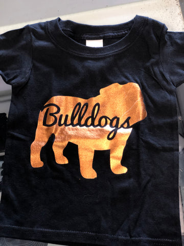 Copper Foil Bulldog Tee