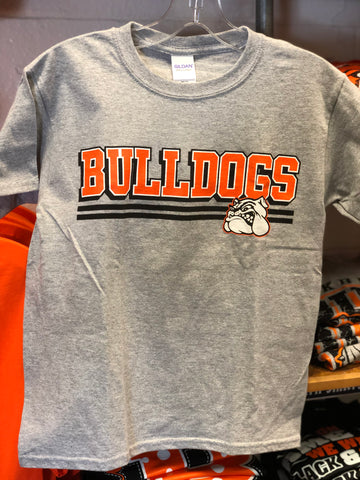 Youth Sports Grey Bulldog Tee