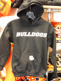 Youth Black Bulldog Hoodie
