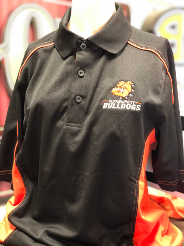Extreme Orange/Black Embroidered Polo
