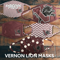 Vernon Lion Face Mask Athletic Fundraiser
