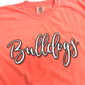 Neon Red Orange Bulldog Tee