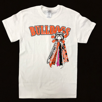 White Mum Tees w/BULLDOGS