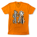 Next Level Orange V-Neck Mum Tees