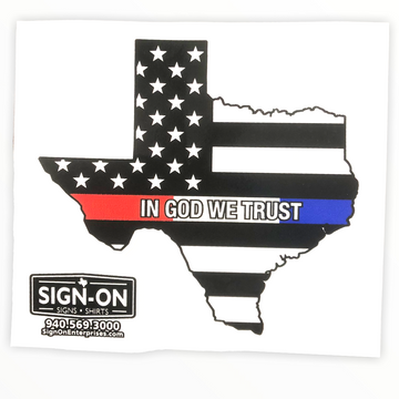 Back the Red White Blue - Texas Shaped Decal
