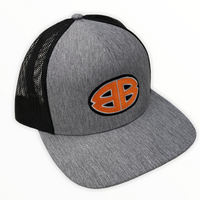 Heather Grey Mesh Back Cap with Double Bs