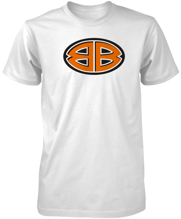 White Double B Tees