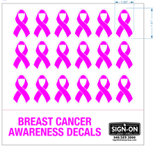 Load image into Gallery viewer, Breast Cancer Awareness Football Helmet Decals