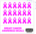 Breast Cancer Awareness Football Helmet Decals