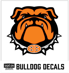 Bulldog Decal-Front Facing