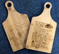 Bamboo Paddle Shape Cutting Board