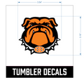 Bulldog Tumbler Decal