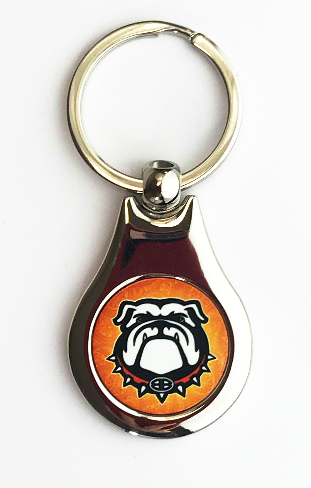 Chrome Bulldog Keychain