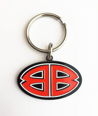 Double B Metal Keychain