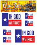 In God We Trust Texas Flag Decals