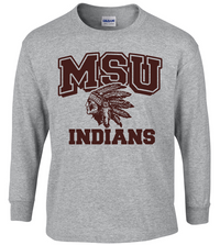 MSU Long Sleeve Indian Tee