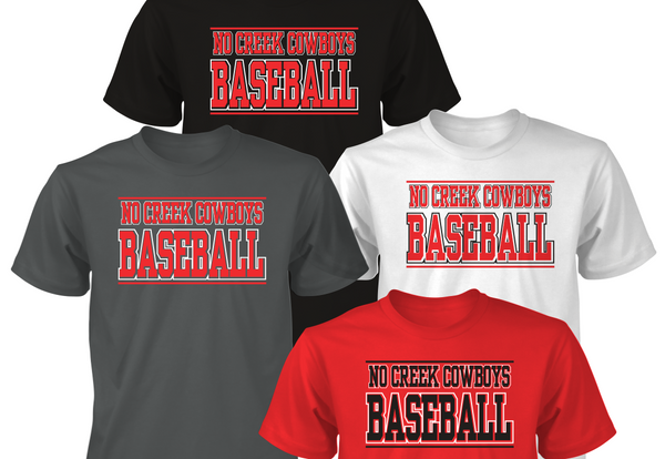 No Creek Baseball Tees