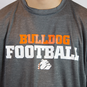 Bulldog Football Performance Heather Grey Tee