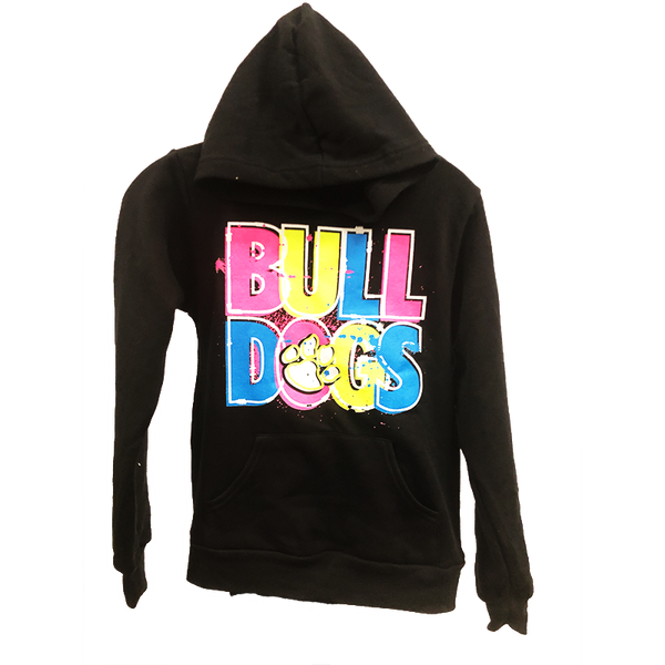 Neon Print Bulldog Youth Hoodies