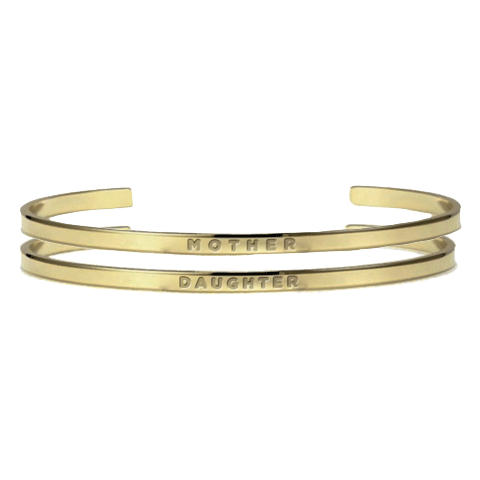 Mother Daughter Gold Bracelets