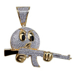 Emoji With Gun Pendant