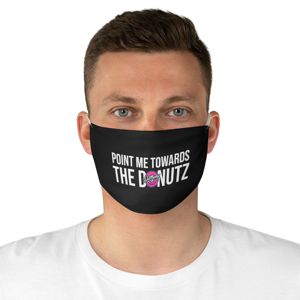 """Point Me"" Black Fabric Face Mask"