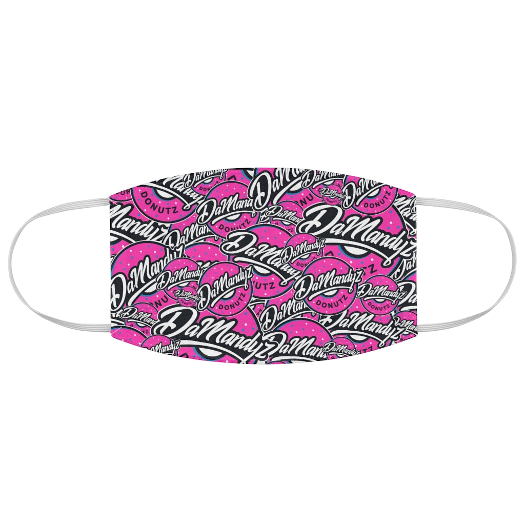 DaMandyz Pink Donutz Logo Fabric Face Mask