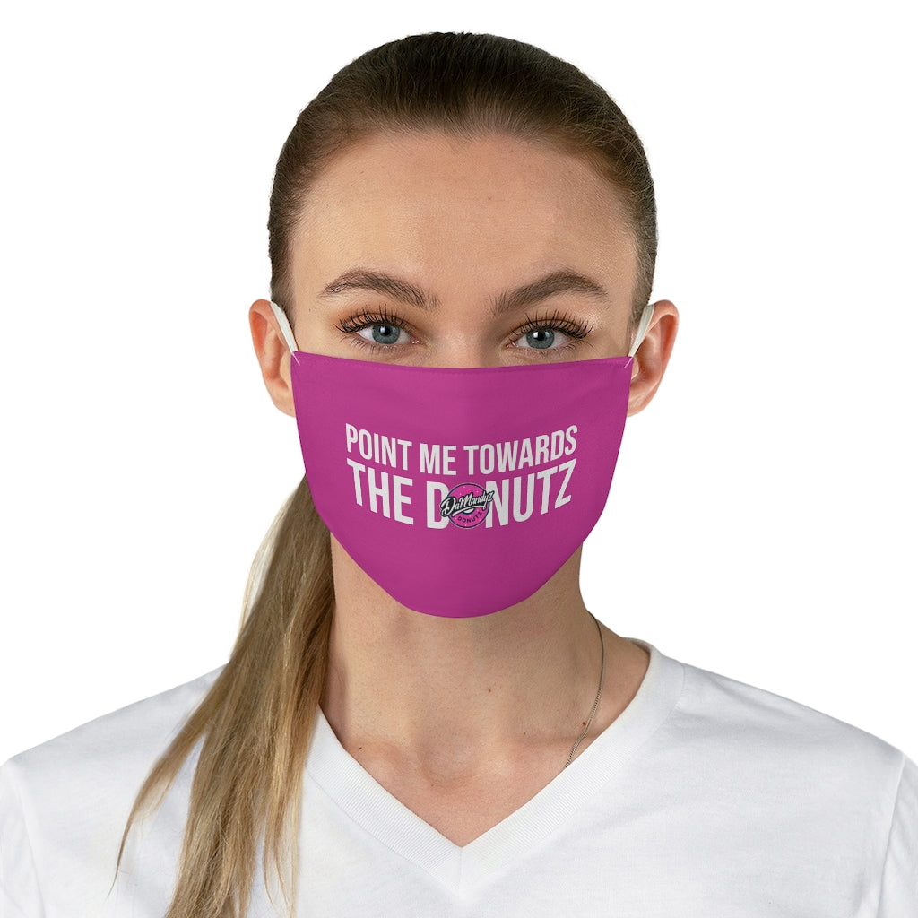 """Point Me"" Pink Fabric Face Mask"