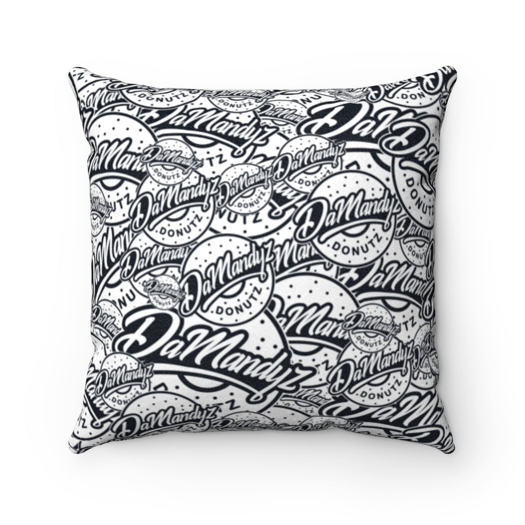 DaMandyz Script Logos Faux Suede Square Pillow
