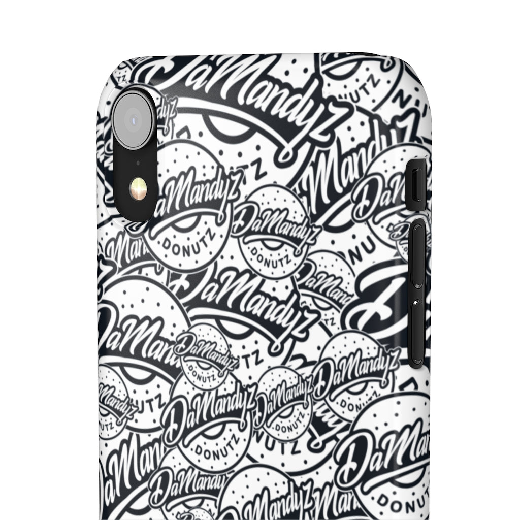 DaMandyz BW Donutz Logo Snap Cases