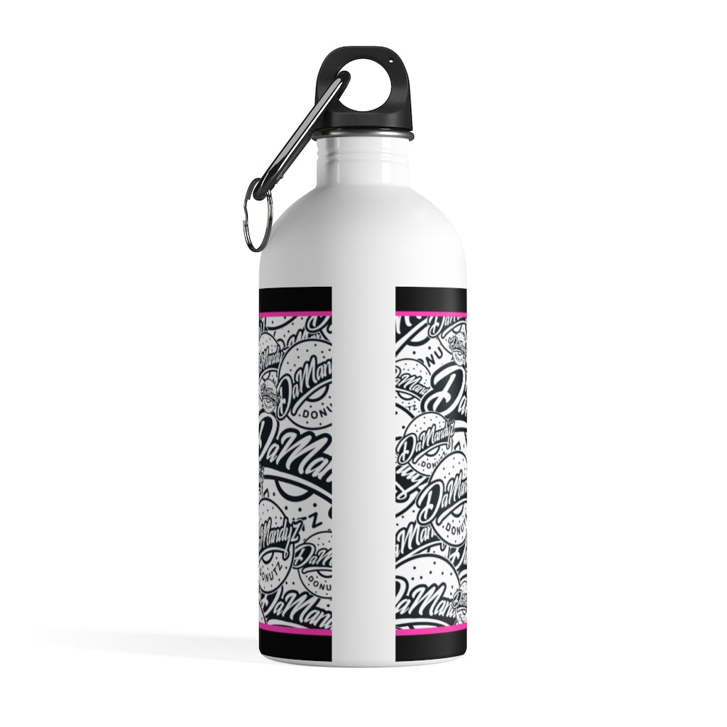 DaMandyz Donutz Logo Stainless Steel Water Bottle