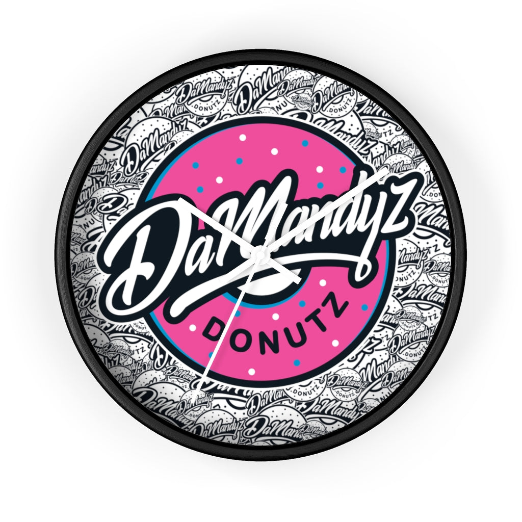 DaMandyz Donutz Logo Wall clock