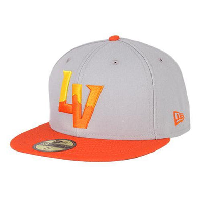 Kids' Las Vegas Aviators New Era On-Field Alternate Gray/Orange 59Fifty Fitted Hat