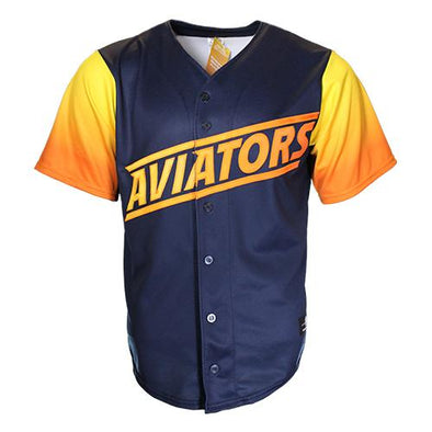 Men's Las Vegas Aviators OT Sports Home ALT Replica Blue/Gradient Jersey