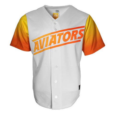 Men's Las Vegas Aviators OT Sports Home Replica White/Gradient Jersey
