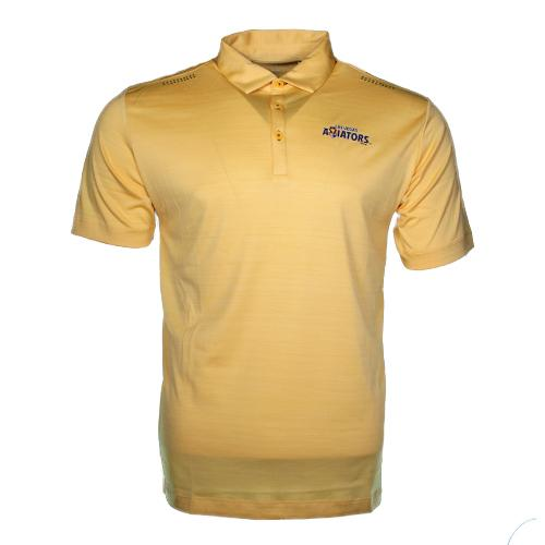 Men's Las Vegas Aviators Columbia Wordmark Omni-Wick Aztec Gold Polyester Short Sleeve Polo
