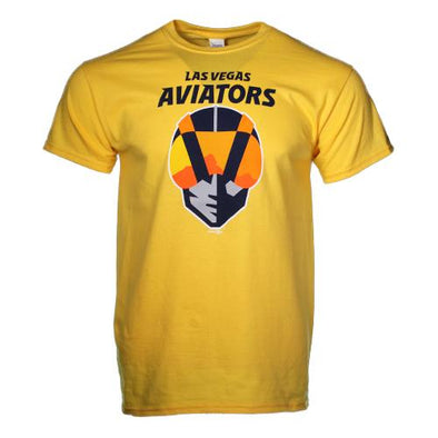Men's Las Vegas Aviators Gildan Primary Logo Daisy Cotton Short Sleeve T-Shirt