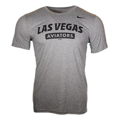 Men's Las Vegas Aviators Nike Las Vegas Aviators Gray Dri-Fit Polyester Short Sleeve T-Shirt
