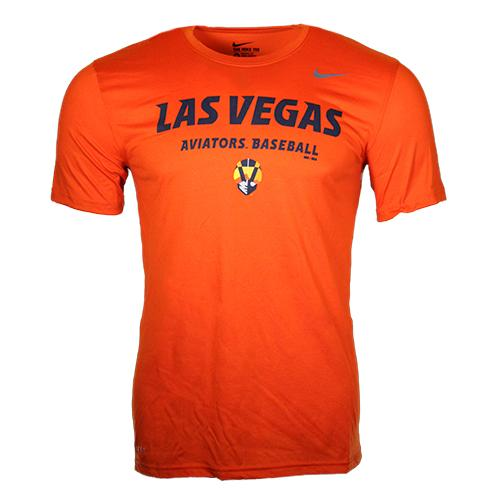 Men's Las Vegas Aviators Nike Aviators Baseball Orange Dri-Fit Short Sleeve T-Shirt