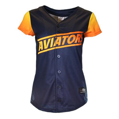 Women's Las Vegas Aviators OT Sports Home ALT Replica Blue/Gradient Jersey