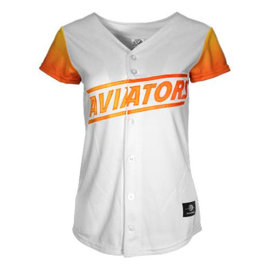 Women's Las Vegas Aviators OT Sports Home Replica White/Gradient Jersey