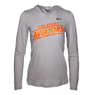 Women's Las Vegas Aviators Nike Diagonal Legend Veneer Gray Dri-Fit Hoodie