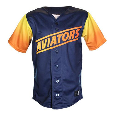 Kids' Las Vegas Aviators OT Sports Home Alternate Blue/Gradient Replica Jersey