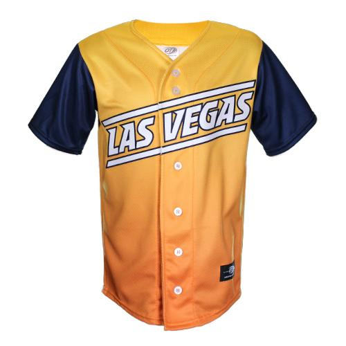 Kids' Las Vegas Aviators OT Sports Road Alternate Gradient/Blue Replica Jersey