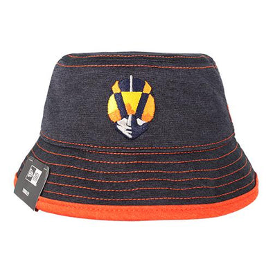 Kids' Las Vegas Aviators New Era Aviator Navy/Orange Shadowed Stretch Bucket Hat